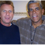 Joe Montana with Danny Poole